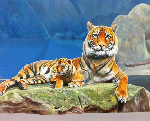 The-Garden-of-Myth-Dragon-Tiger-Mountains-Mural-Tiger-Detail-2